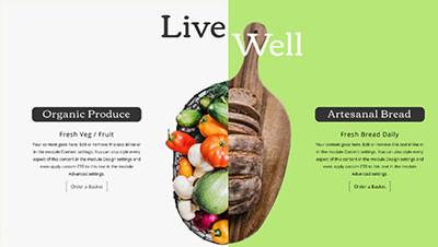 食品公司网站使用分屏设计有什么好处